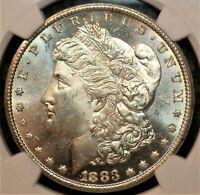1883/1883-CC MORGAN SILVER DOLLAR NGC MINT STATE 62 VAM-4A CLASHED - R-5 - NON GSA HOLDER