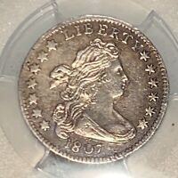 1807 DRAPED BUST DIME PCGS AU DETAILS - SHOW ME THE DAMAGE
