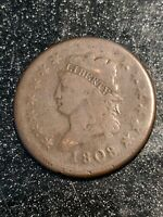 1808 CLASSIC HEAD LARGE CENT 1C CH VG  BEAUTIFUL AND
