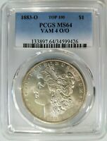 1883 O SILVER MORGAN DOLLAR PCGS MINT STATE 64 VAM 4 O/O REPUNCHED MINT MARK ERROR RPM