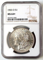 1903-O US MORGAN SILVER DOLLAR $1 BU UNCIRCULATED NGC MINT STATE 64 BETTER DATE
