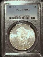 1879 S MORGAN SILVER DOLLAR PCGS MINT STATE 62