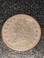 1812 CLASSIC HEAD LARGE CENT EXCELLENT EXAMPLE OF THIS RARE