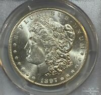 1897-S MORGAN DOLLAR PCGS MINT STATE 64  INCREDIBLE LUSTER / AMAZING DETAIL  279