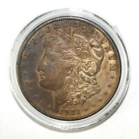 1921-S $1 MORGAN SILVER DOLLAR AU ABOUT UNCIRCULATED  TONED 16