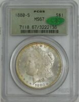 1880-S MORGAN DOLLAR $ MINT STATE 67 GREEN LABEL PCGS  CAC 943727-5