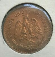 1939 MEXICO 1 ONE CENTAVO   RED BROWN UNCIRCULATED   SOME NICE TONING