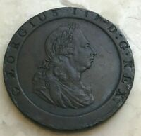 1797 GREAT BRITAIN CARTWHEEL PENNY   BIG THICK COPPER   SOME RIM DINGS