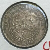 1900 GREAT BRITAIN SHILLING      ALMOST UNCIRCULATED