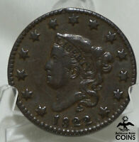 1822 UNITED STATES LIBERTY HEAD MATRON HEAD LARGE CENT COIN
