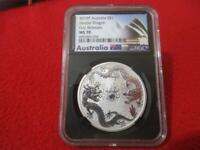 2019P AUSTRALIA SILVER $1 DOUBLE DRAGON FIRST RELEASE NGC MS