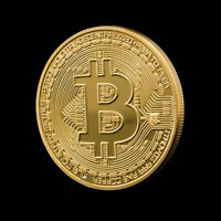 BITCOIN COIN PLATED GOLD COLOR COLLECTION GIFT COLLECTIBLE B