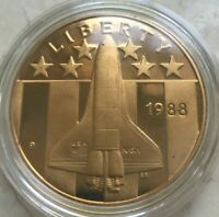 1988 YOUNG ASTRONAUTS PROOF BRONZE MEDAL