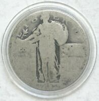 LOW BALL  STANDING LIBERTY QUARTER -  PERFECT POCKET PIECE - 90 SILVER