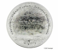 2020 COOK ISLANDS $25 SILVER CARSTENSZ PYRAMID 7 SUMMITS SER