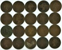 CANADA LOT OF 42 LARGE CENTS   20 VICTORIA 8 EDWARD VII 14 GEORGE V