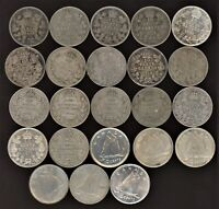 CANADA LOT OF 23 SILVER 10C 1903 1962