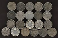 CANADA LOT OF 21 5C SILVERS 1858 1920