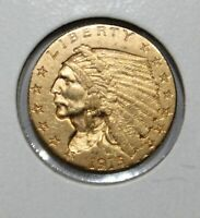 1915 INDIAN HEAD $2.50 QUARTER EAGLE EARLY GOLD COINS UNCERT