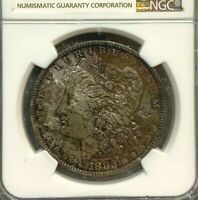 1883-O MORGAN SILVER DOLLAR NGC MINT STATE 63   UNIQUE TONING