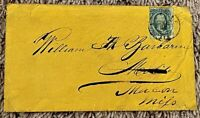 CONFEDERATE STATES OF AMERICA YELLOW COVER WITH 10 CENT BLUE