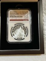 2021 GREAT BRITAIN 1 OZ SILVER BRITANNIA WITH LION NGC PF70UCAM 1 OF FIRST 100