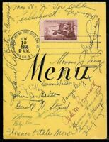 1956 FIRST ANNUAL AFDCS CONVENTION MENU W/ MULTIPLE NOTABLE