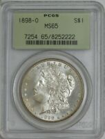 1898-O MORGAN SILVER DOLLAR $ MINT STATE 65 OLD HOLDER PCGS 944228-28
