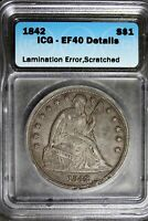 1842   ICG EF40 DETAILS LAMINATION ERROR SCRATCHED SEATED SI