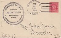 1929 680 1 FALLEN TIMBERS FDC W WATERVILLE OH POST OFFICE CA
