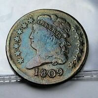 1809 1/2C CLASSIC HEAD HALF CENT COLLECTIBLE US NUMISMATIC COIN C32