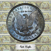 1891-CC AAATOP Q GEM  BU MORGAN RIGHT FROM BANK BAG  ACE HIGH LM70