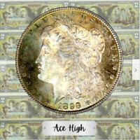 1898-P AAA GEM BU W TONING MORGAN FROM WINTERS BANK BAG  ACE HIGH LM155
