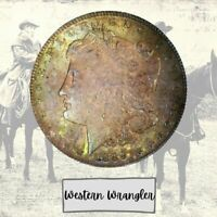 1889-P AAA AU W LT TONING  MORGAN FROM BANK BAG  WESTERN WRANGLER LM160