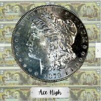 1878-S AAA DMPL BOTH SIDES MORGAN FROM BANK BAG   ACE HIGH  LM225