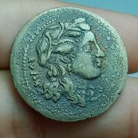 UNRESEARCHED ANCIENT GREEK SILVER DRACHM  COIN 15G