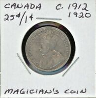 CANADA MAGICIAN'S TOKEN C.1912 / 1920 ONE SIDE IS 25C THE OTHER IS 1C