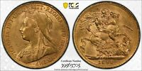 1899P PERTH SOVEREIGN FIRST YEAR 690 992 MINTED PCGS AU55