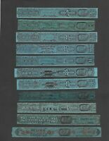 U.S. 11 TAX PAID REVENUE STRIPS FOR TOBACCO VARIOUS SERIES A