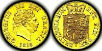 RARE 1818 KING GEORGE III GREAT BRITAIN GOLD HALF 1/2 SOVERE