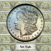 1888-S    MORGAN FROM BANK BAG  ACE HIGH LM326