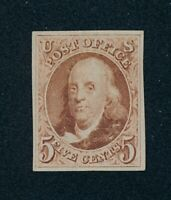 DRBOBSTAMPS US SCOTT 3 MINT NO GUM AS ISSUED  SEE DESCRIPTIO