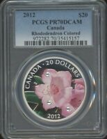 2012 $20 PCGS PR70DCAM   RHODODENDRON
