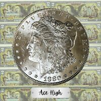1880-S GEM BU FROSTY MORGAN  FROM BANK BAG  ACE HIGH LM387