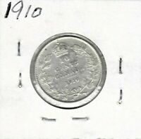 1910 DIME CANADA STERLING SILVER TEN CENTS KING EDWARD VII