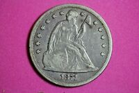 ESTATE FIND 1871 SEATED LIBERTY DOLLAR K2710