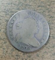 1798 DRAPED BUST SILVER DOLLAR  CIRCULATED CONDITION  RARE C
