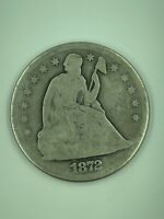 1872 $1 SEATED LIBERTY SILVER DOLLAR ABOUT GOOD AG US COLLECTIBLE COIN SZ2