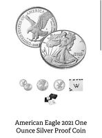 2021 S AMERICAN SILVER EAGLE PROOF-ONE OUNCE COIN 21EMN TYPE 2