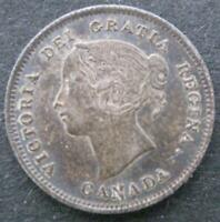 CANADA SILVER 5 CENTS 1871 XF 19
